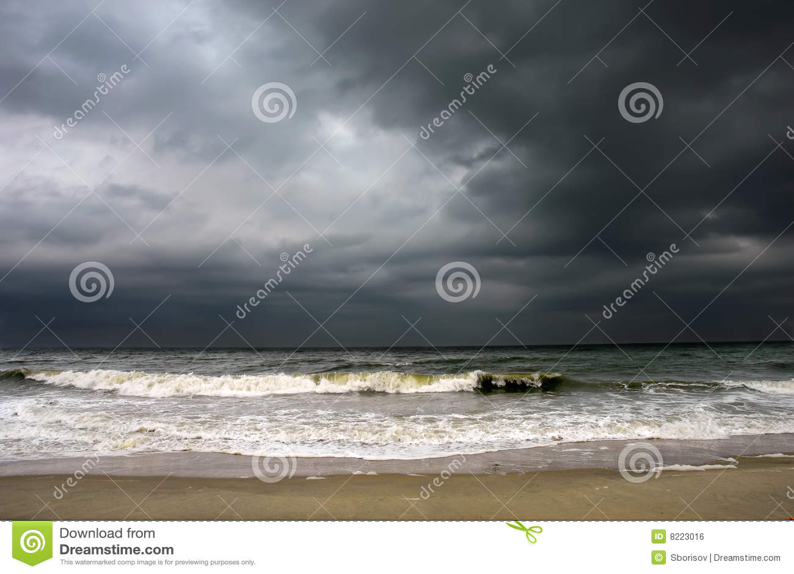 Tempo tempestoso, litorale dell Oceano Atlantico