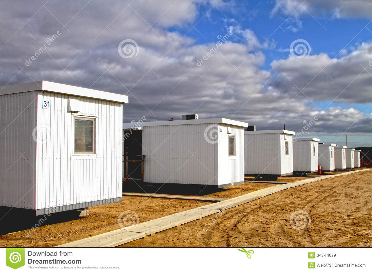 Temporary Living Shelters : Temporary housing royalty free stock images image