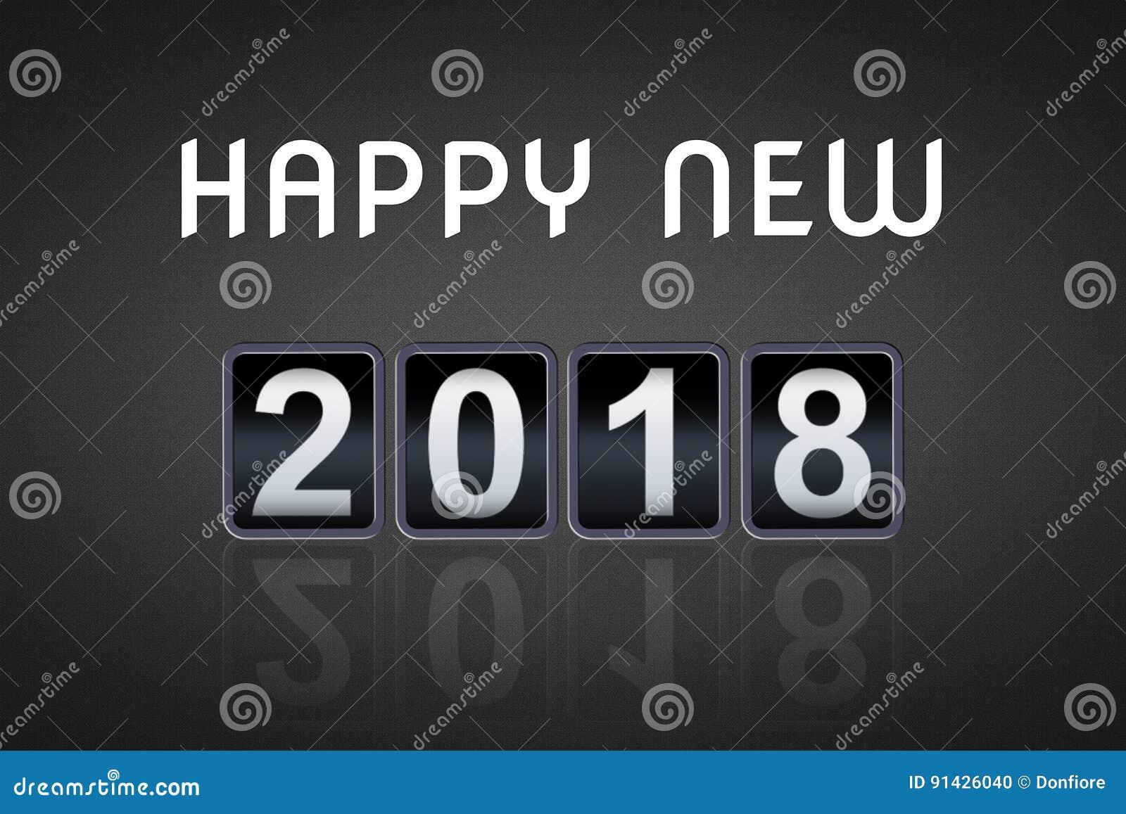 2017 temporizzatore analogico d annata di conto alla rovescia di concetto di 2018 buoni anni contro, retro contatore di numero di