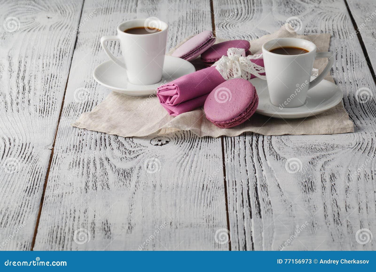 Temps de café sur la table