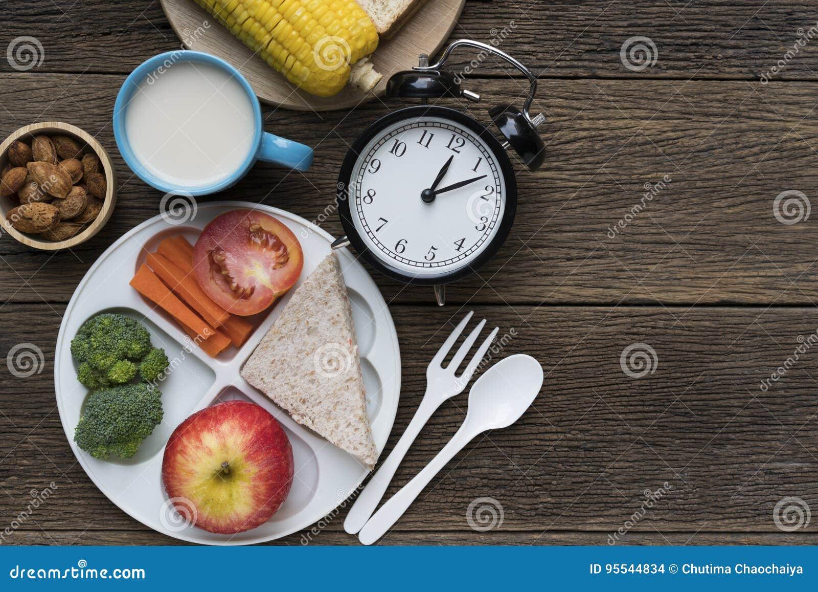 Temps de repas avec le réveil au temps de déjeuner