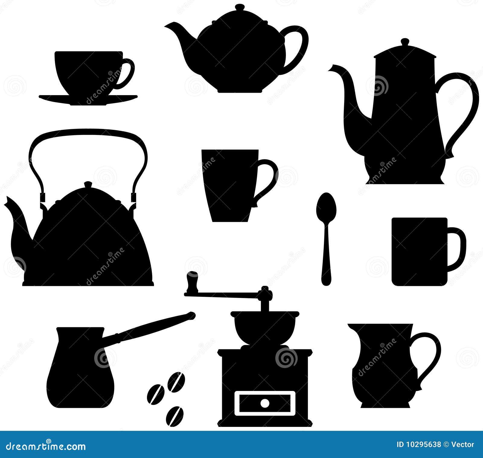 Temps de thé de vaisselle de café
