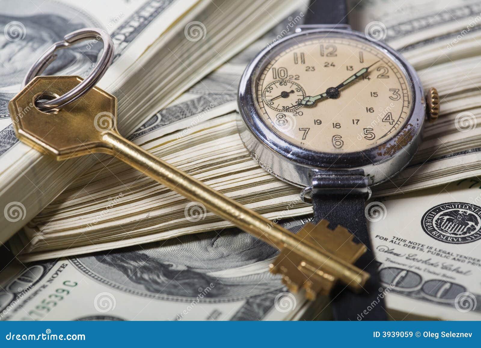 Temps et argent - concepts de réussite d affaires