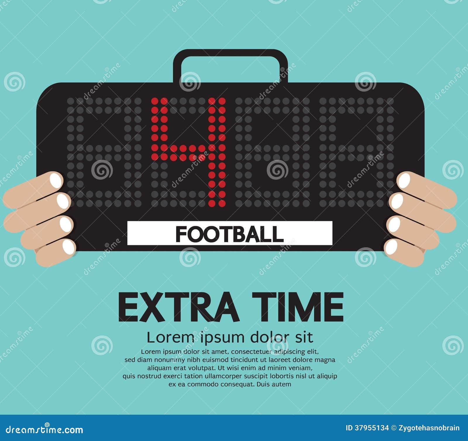 Temps extra du football.