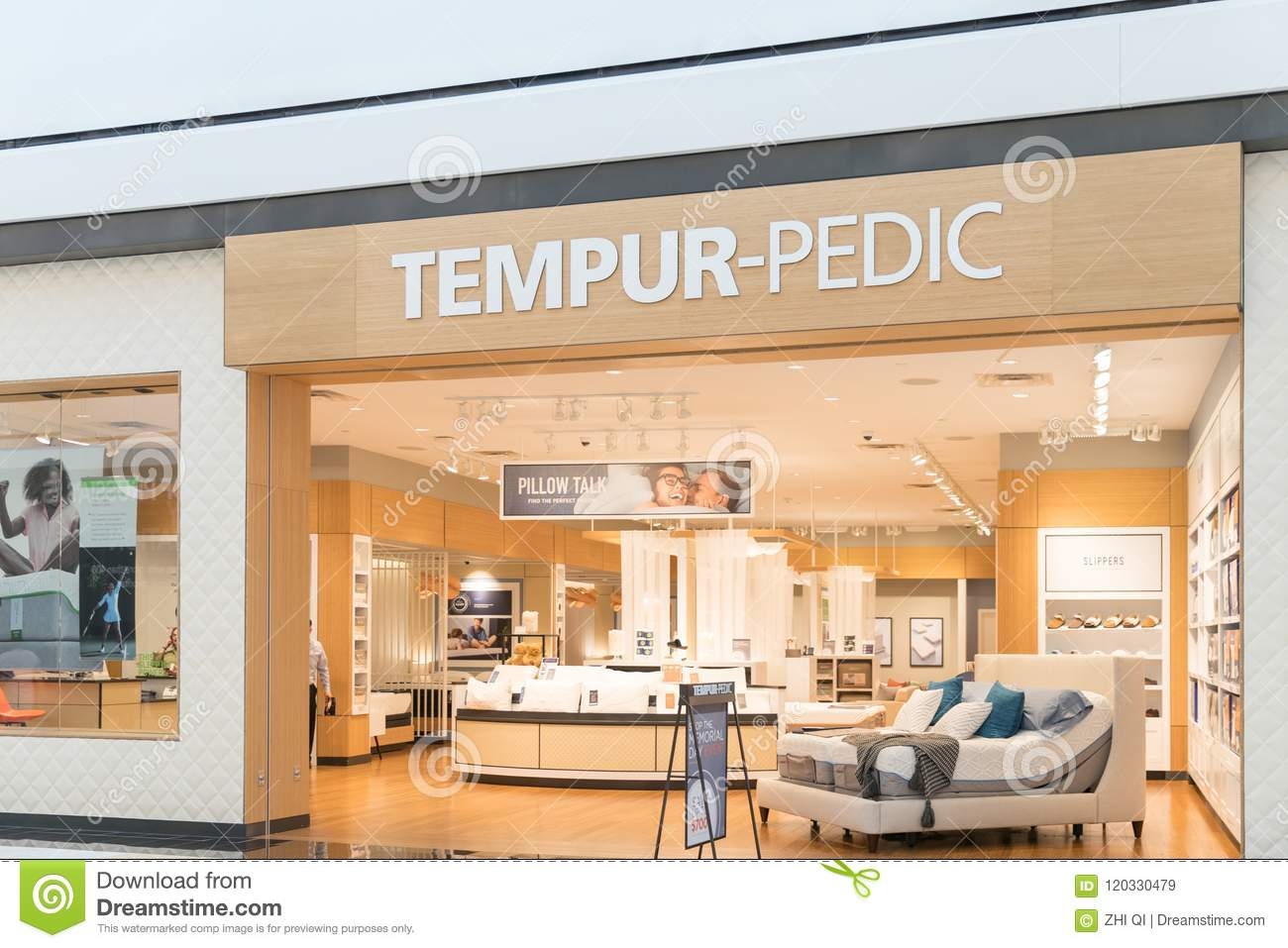 Colchones Tempur Outlet.Tempur Pedic Mattresses Store Front Editorial Stock Image Image Of