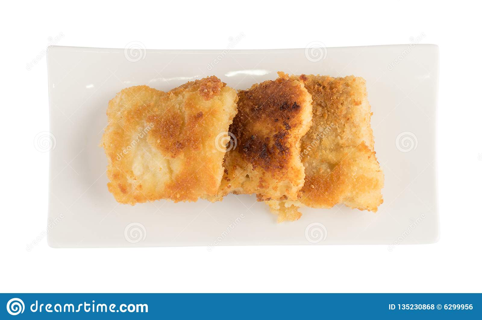 Tempura de los mariscos o pescados picantes calientes de Amritsari
