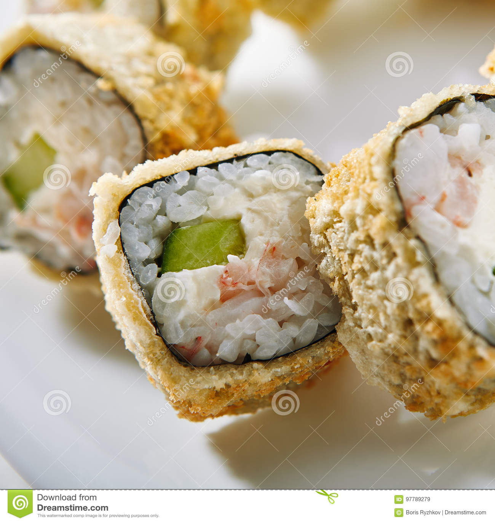 Tempura-Sushi-Rolle