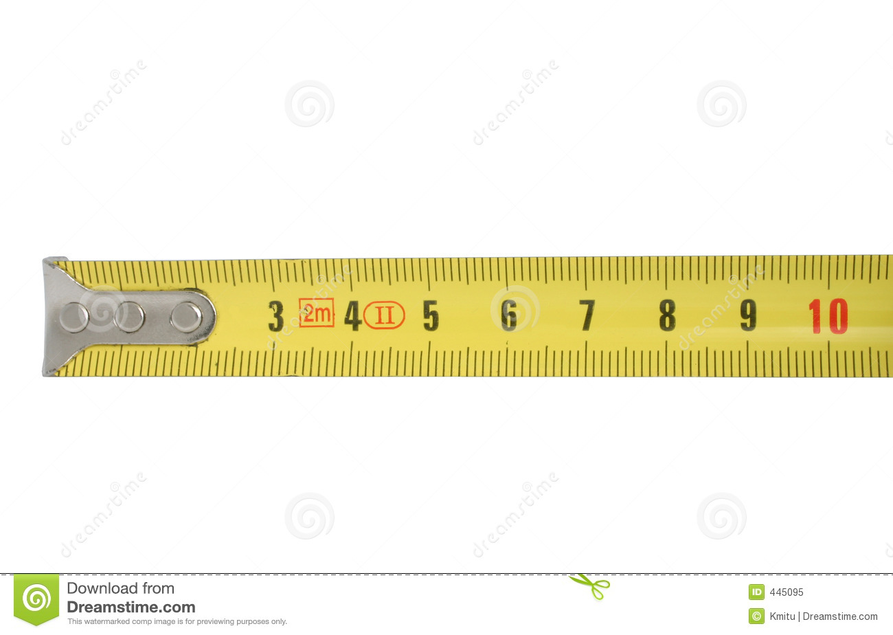 Ten Centimeters Of Measuring Tape Royalty Free Stock Photo