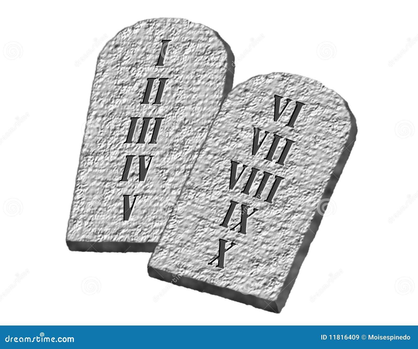 Stone Tablet Clip Art : The ten commandments stock illustration of