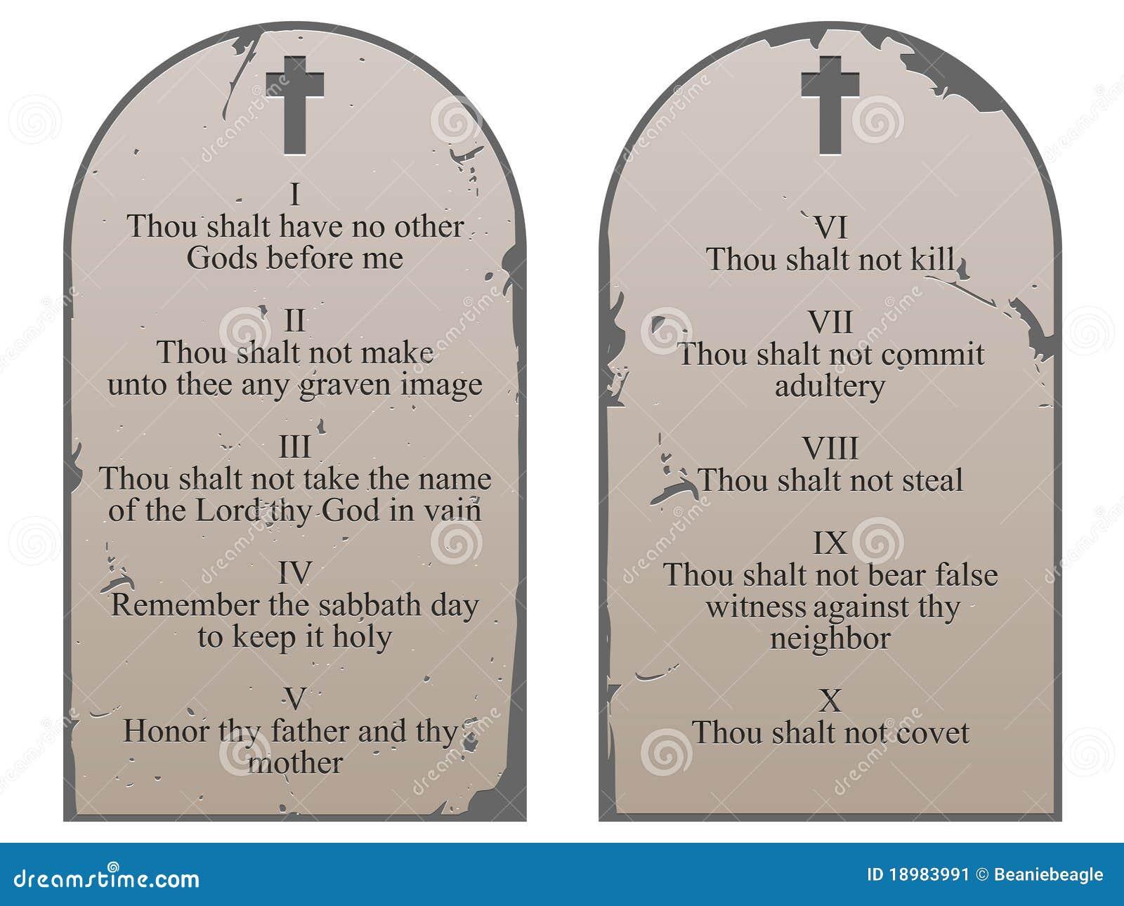 10 Commandments Tablets Ten commandments
