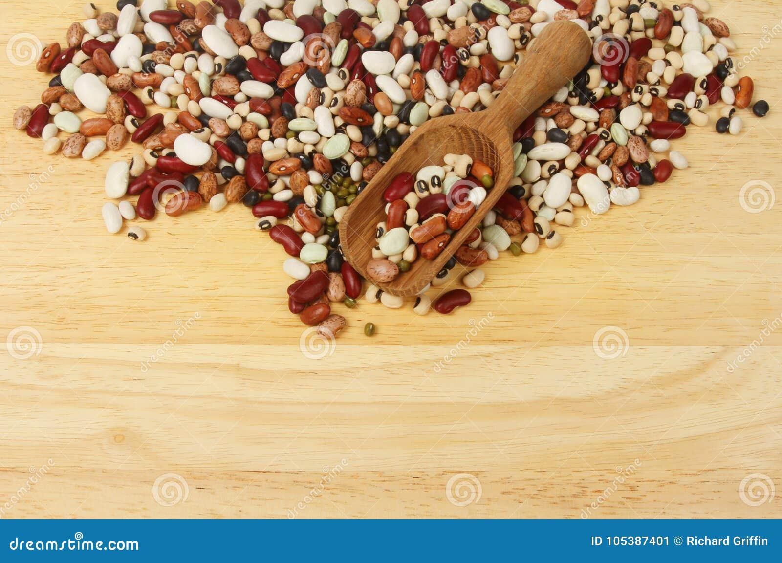 Ten bean mix and scoop