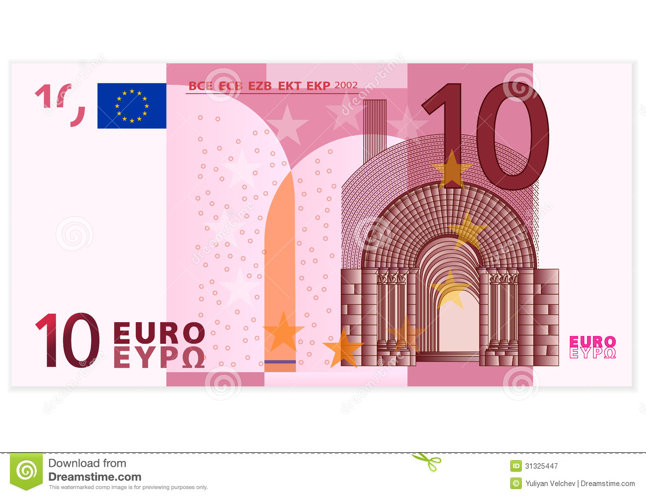 ten euro banknote royalty free stock photography image 31325447. Black Bedroom Furniture Sets. Home Design Ideas