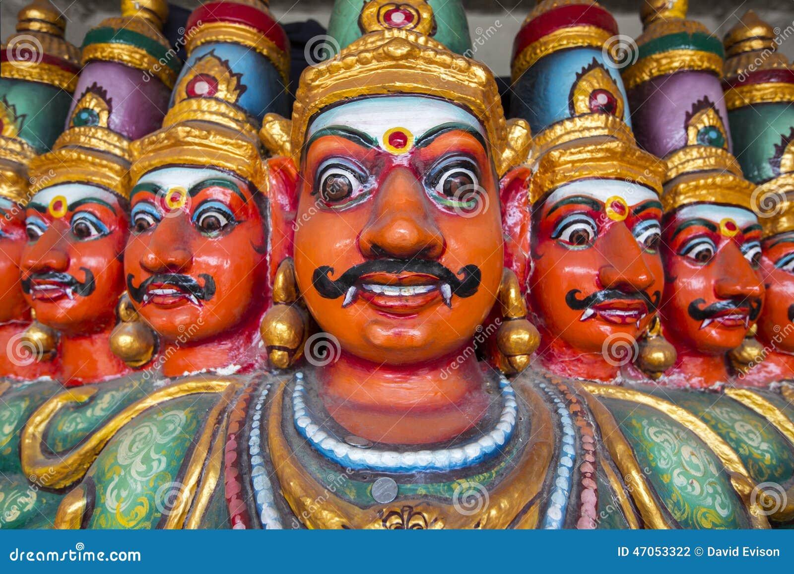 Ten Headed Ravana Vahana In Kapaleeshvarar Temple Chennai India Stock Photography