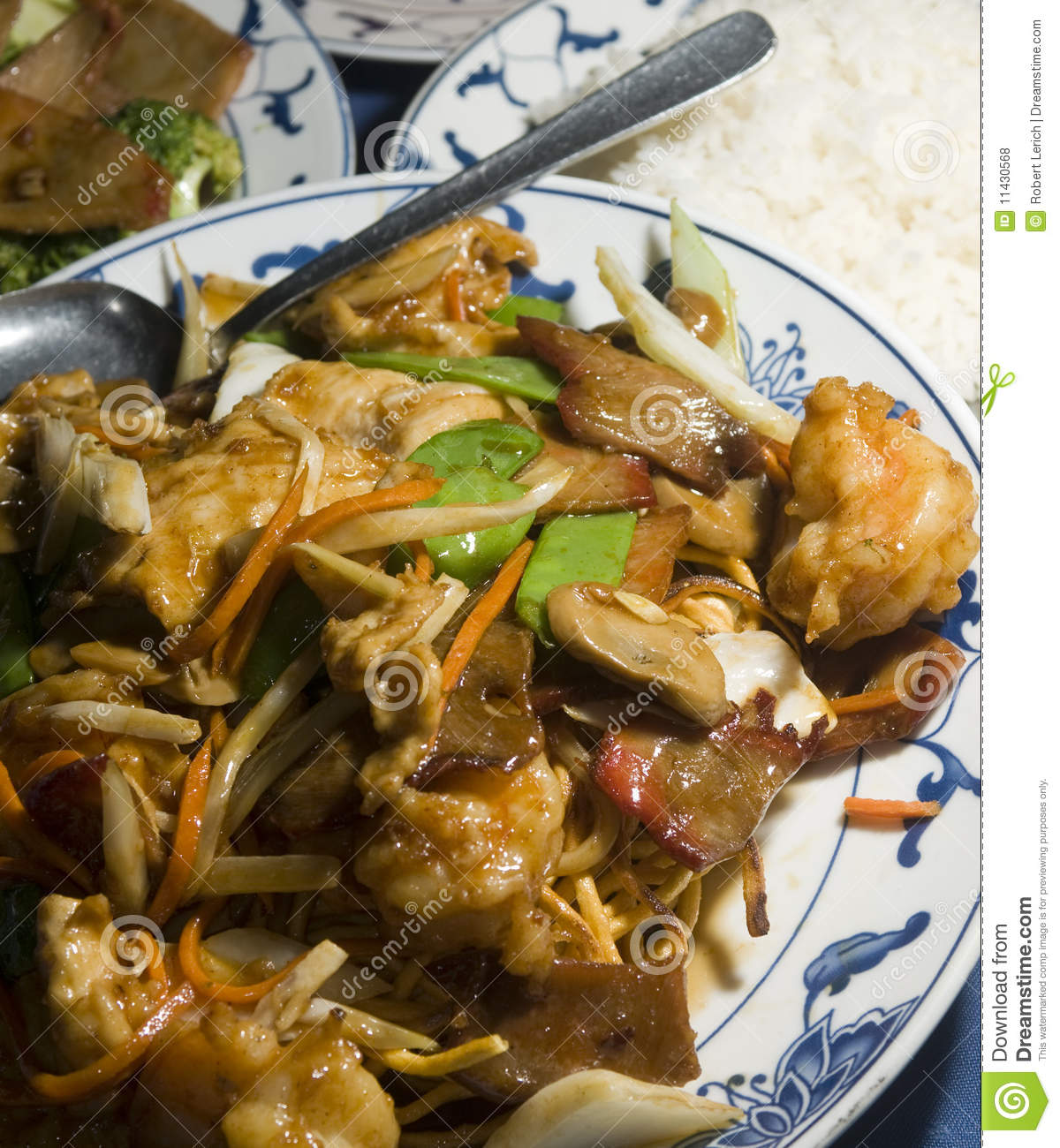 Ten Ingredient Pan Fried Noodles Royalty Free Stock Photos - Image ...