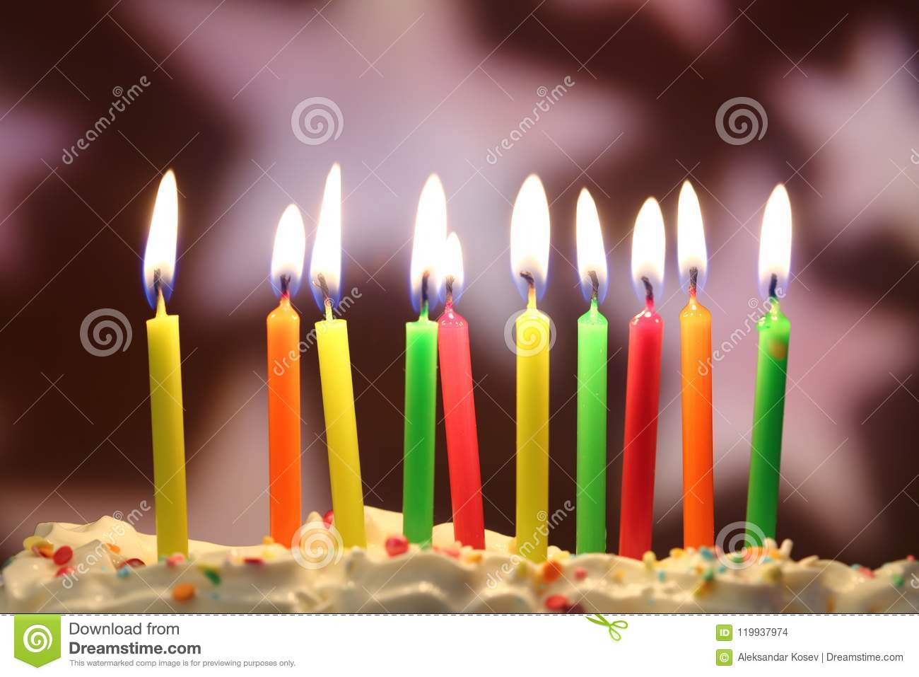 birthday candles close up stock photo image of celebrate 119937974