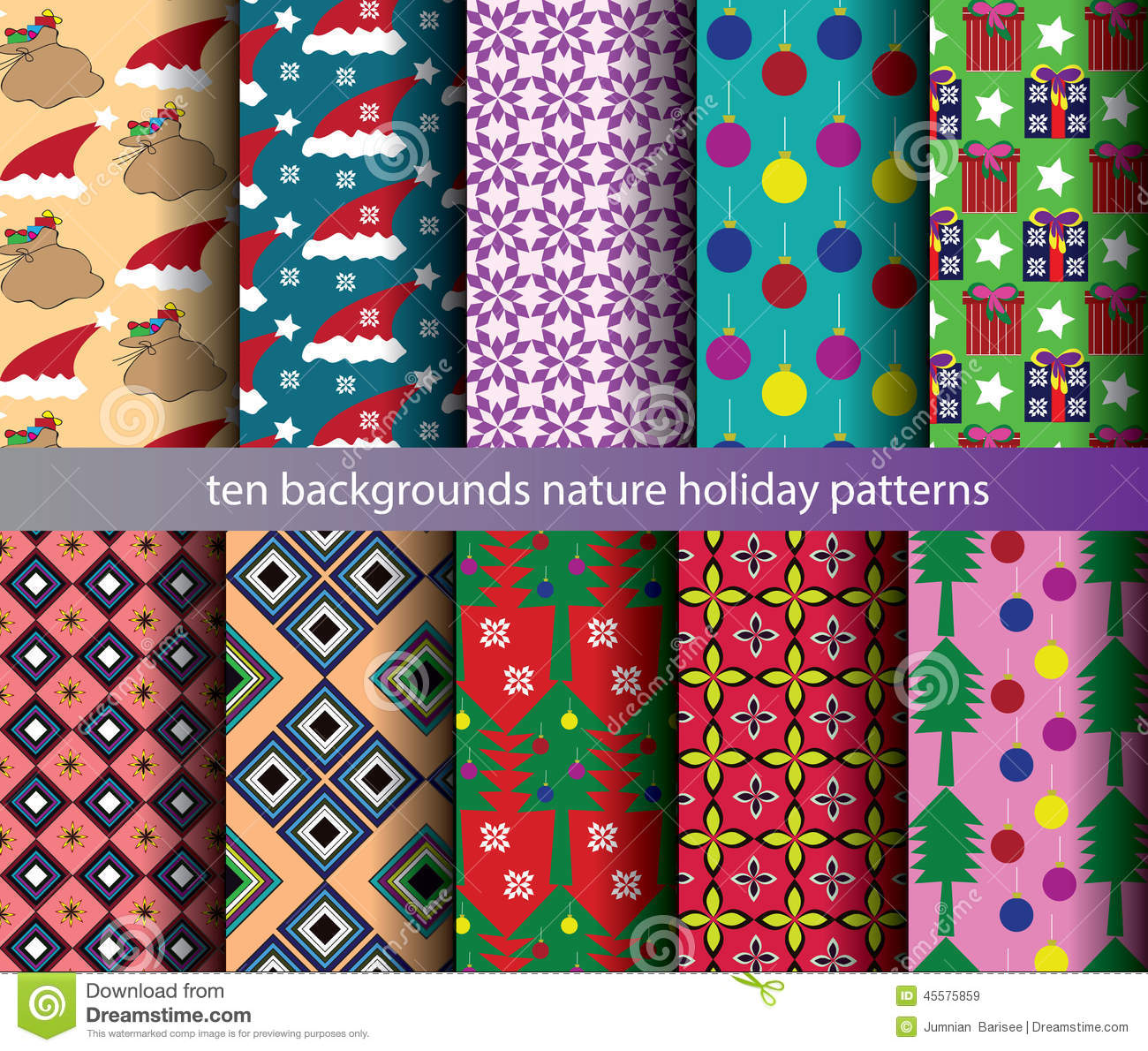 Ten nature backgrounds patterns