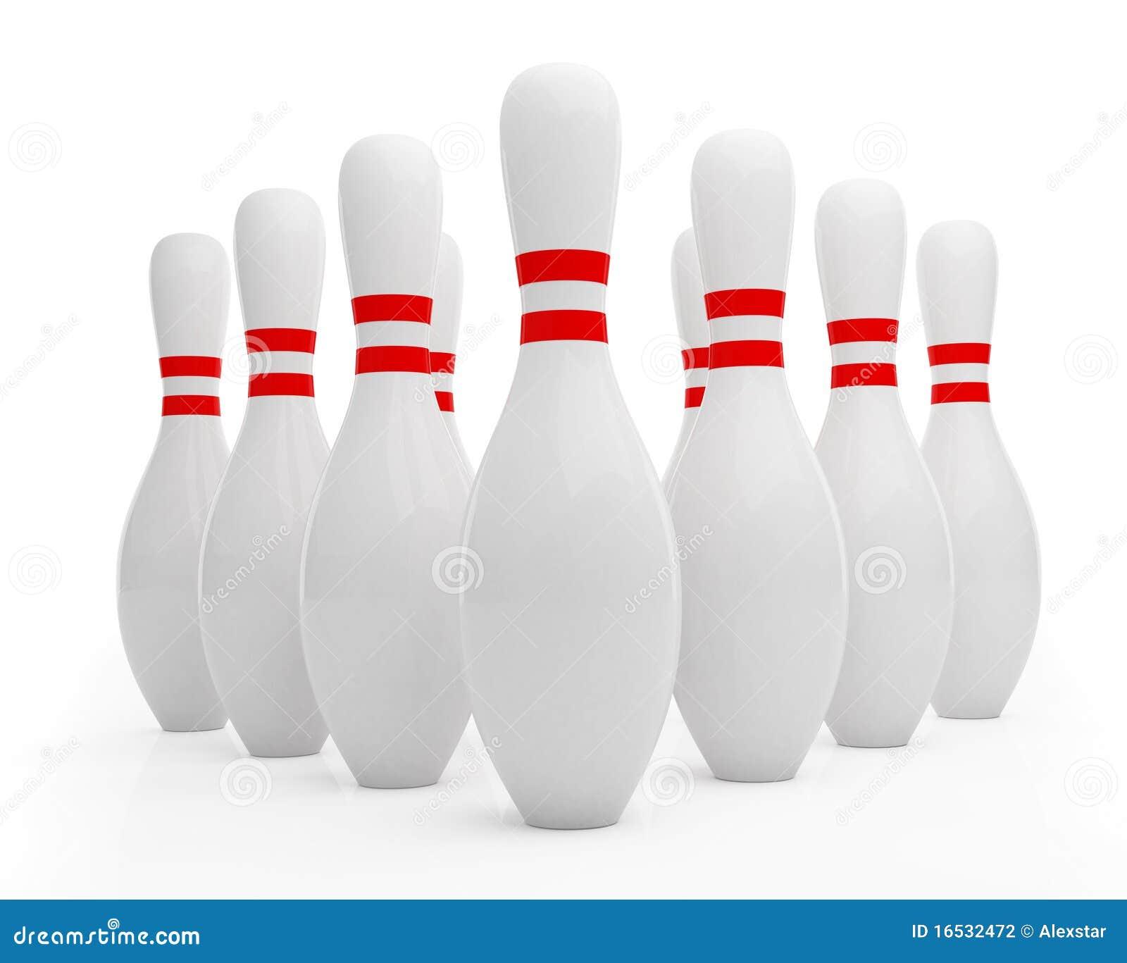 Ten pin bowling skittles stock illustration. Illustration of pins ...