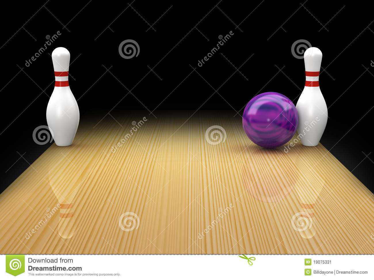 Ten Pin Bowling Spare As Snake Eyes Or Bed Posts Stock Image - Image: 19075331