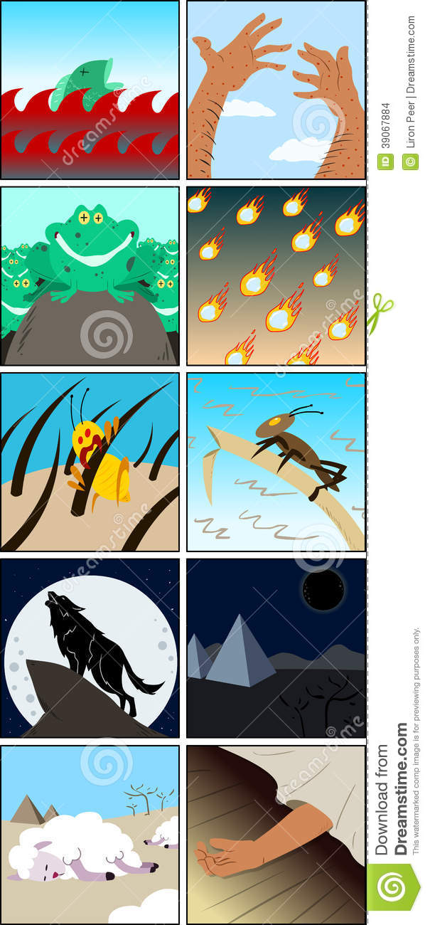 Ten Plagues From Passover Stock Vector - Image: 39067884