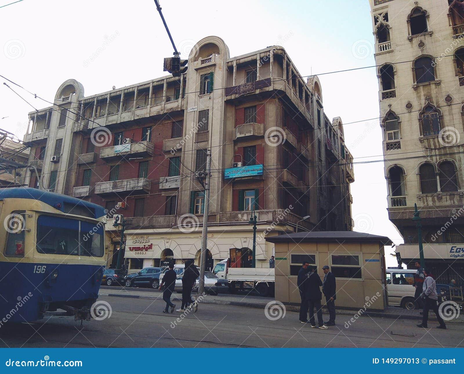 Ten teren dzwoni Raml Stacyjny, Aleksandria, Egipt