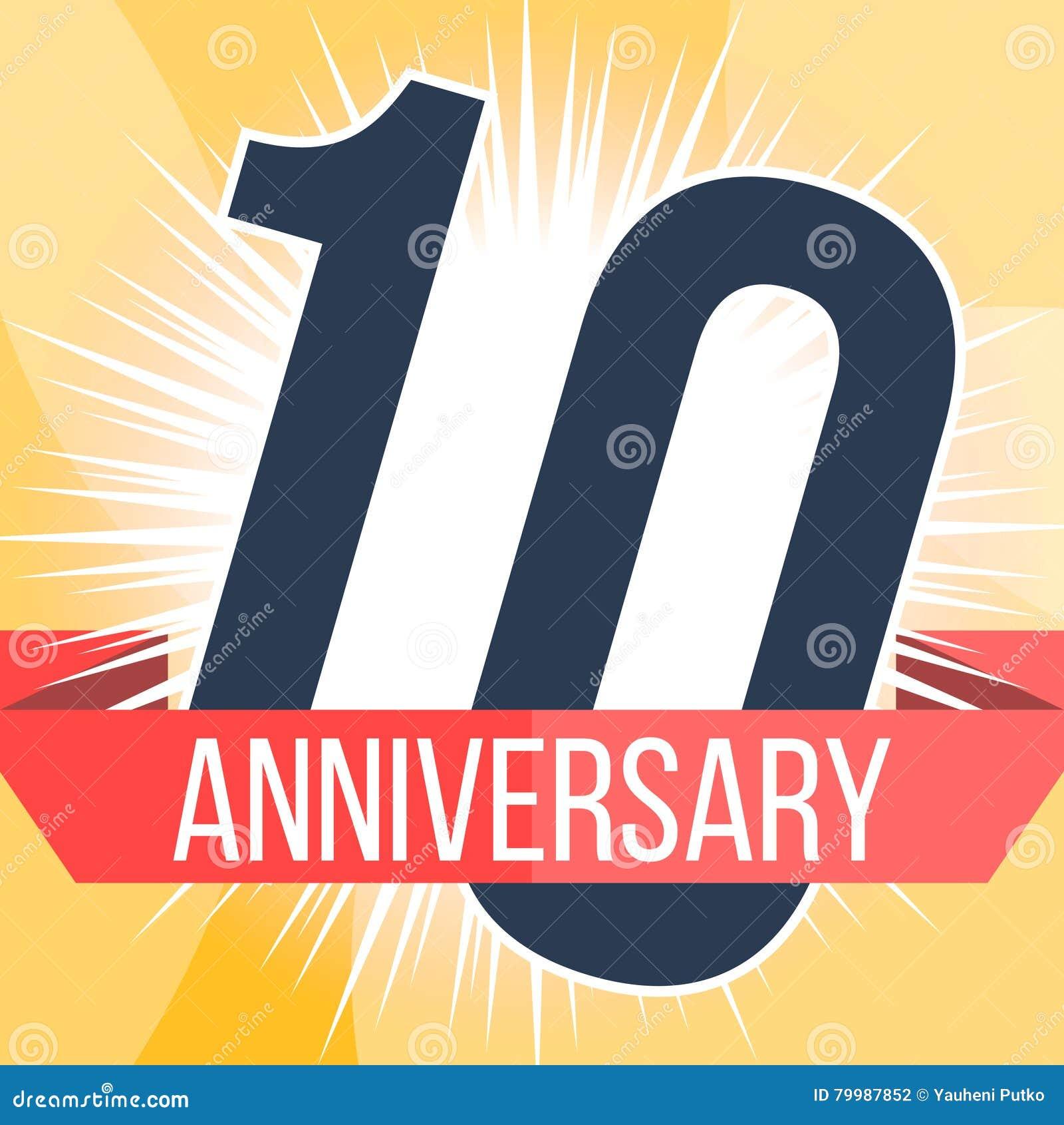 Ten years anniversary banner th logo