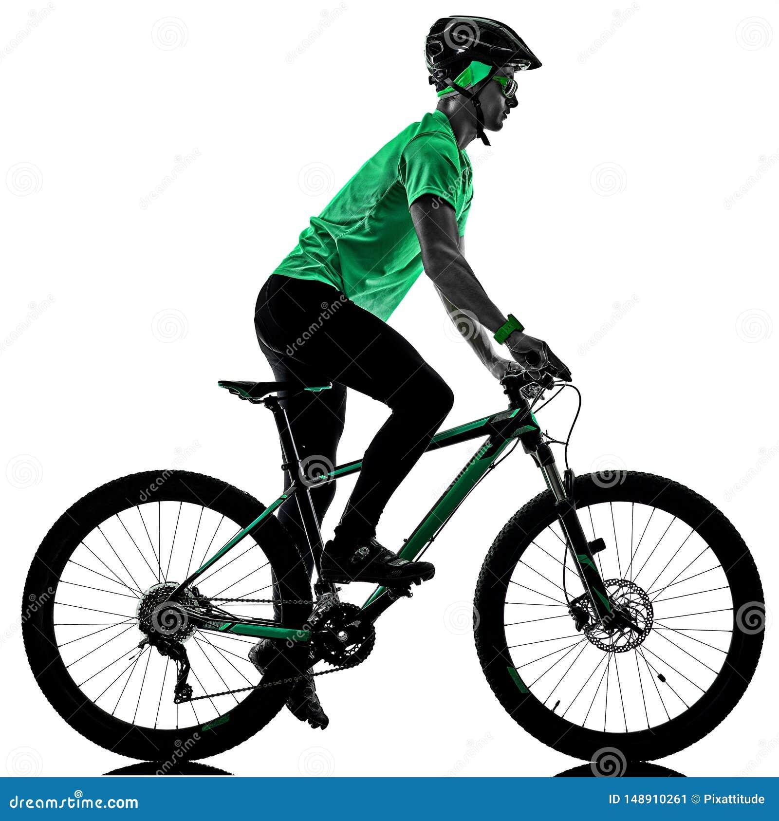 Tenager ch?opiec roweru g?rskiego bking cienie
