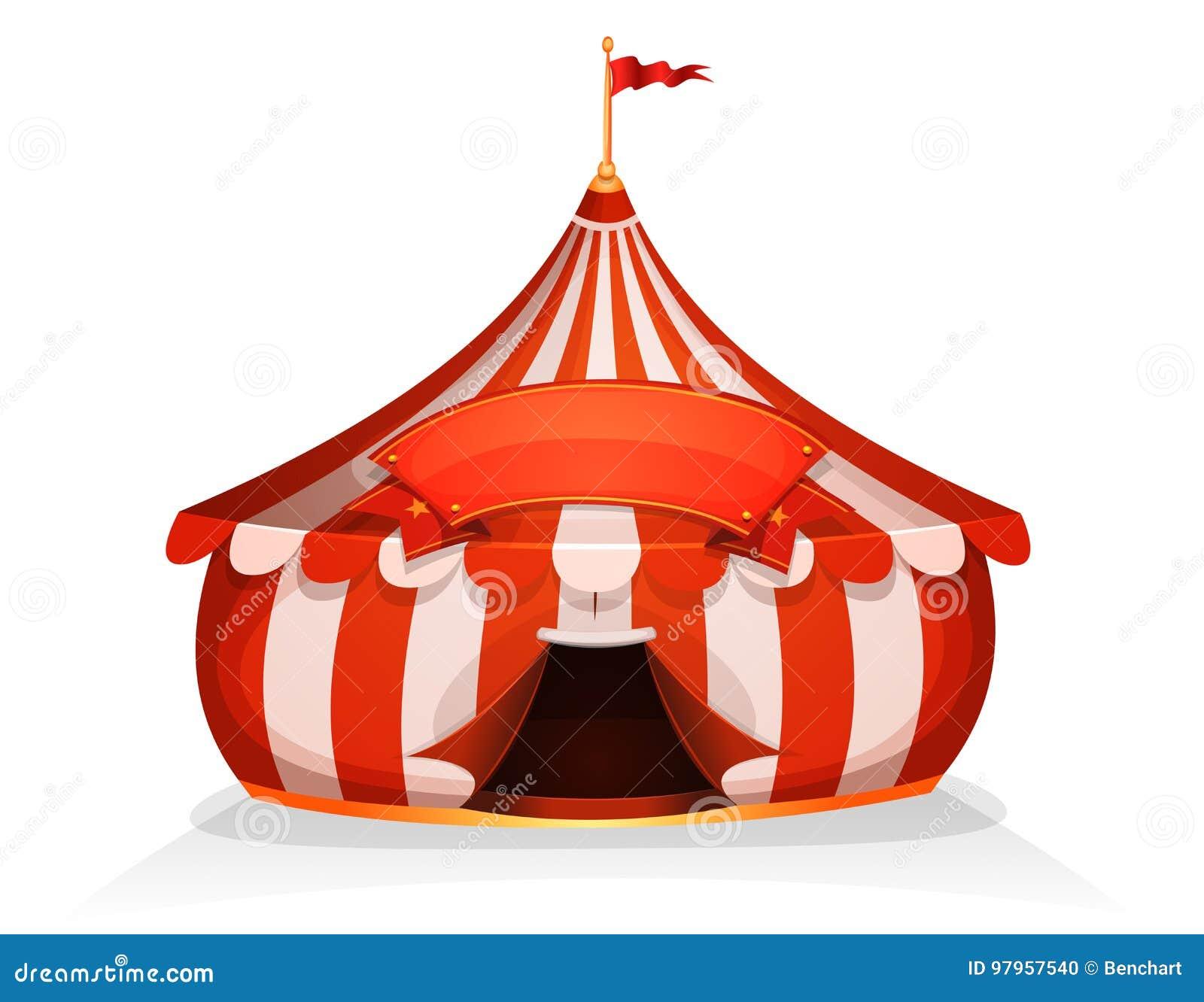 Tenda De Circo Pouca Tenda Do Circus Com Bandeira Ilustracao Do