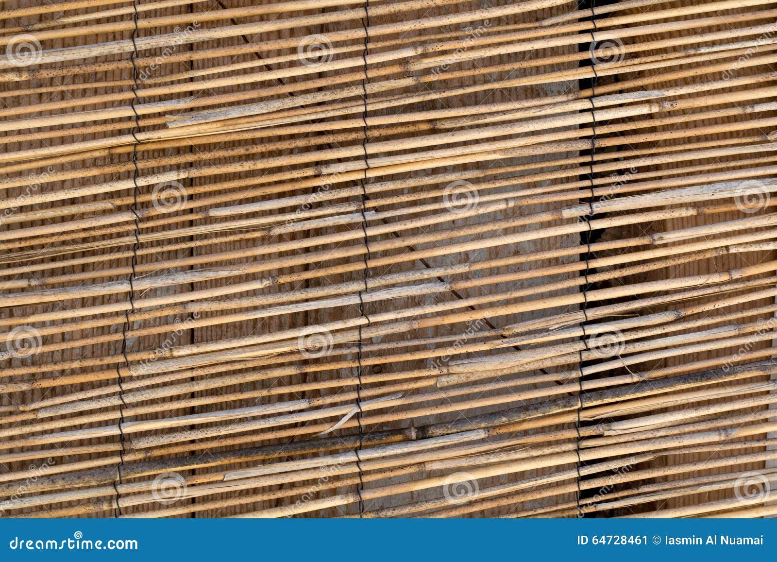 Tenda del bastone del bambù di marrone giallo