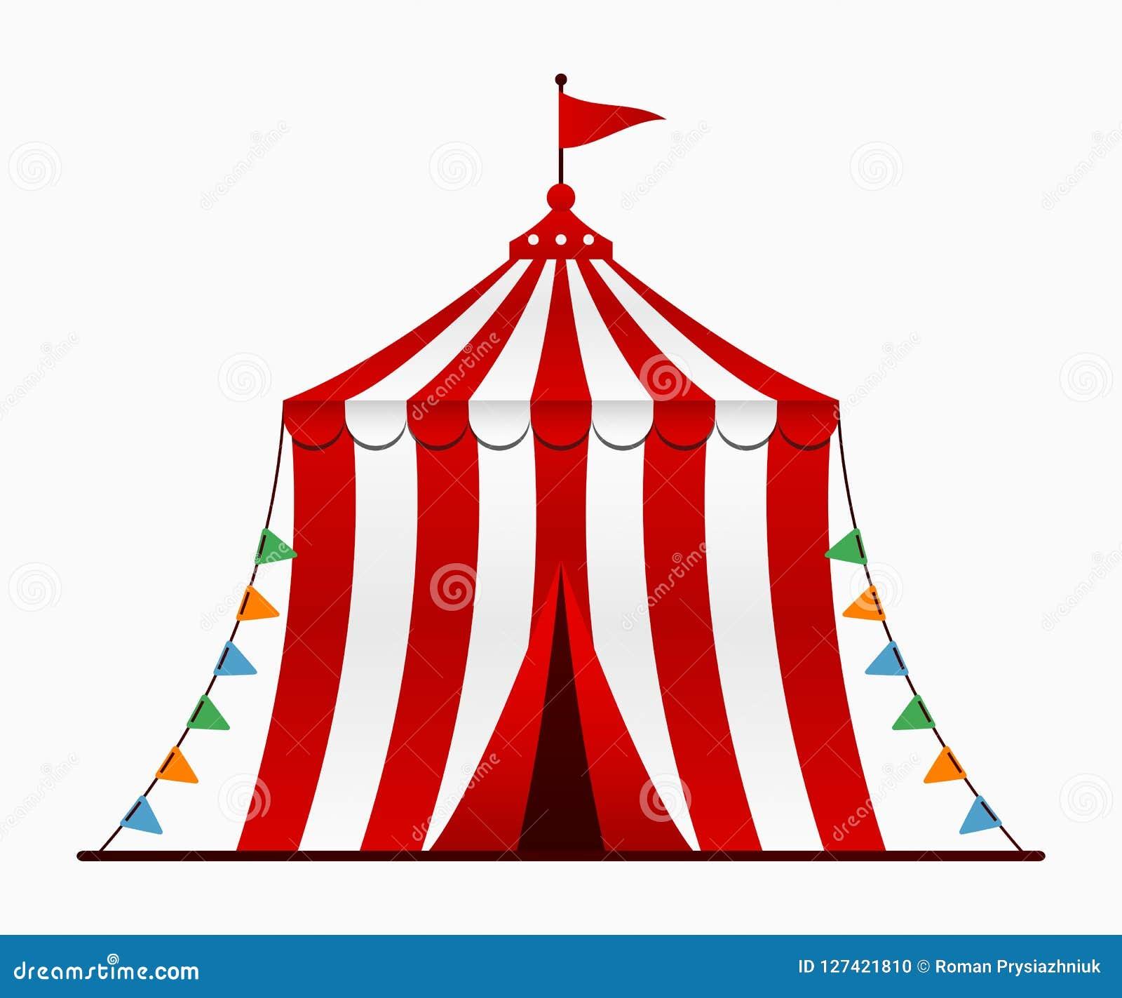 Tenda Do Circus Arena Do Circo Com Uma Abobada No Estilo Dos