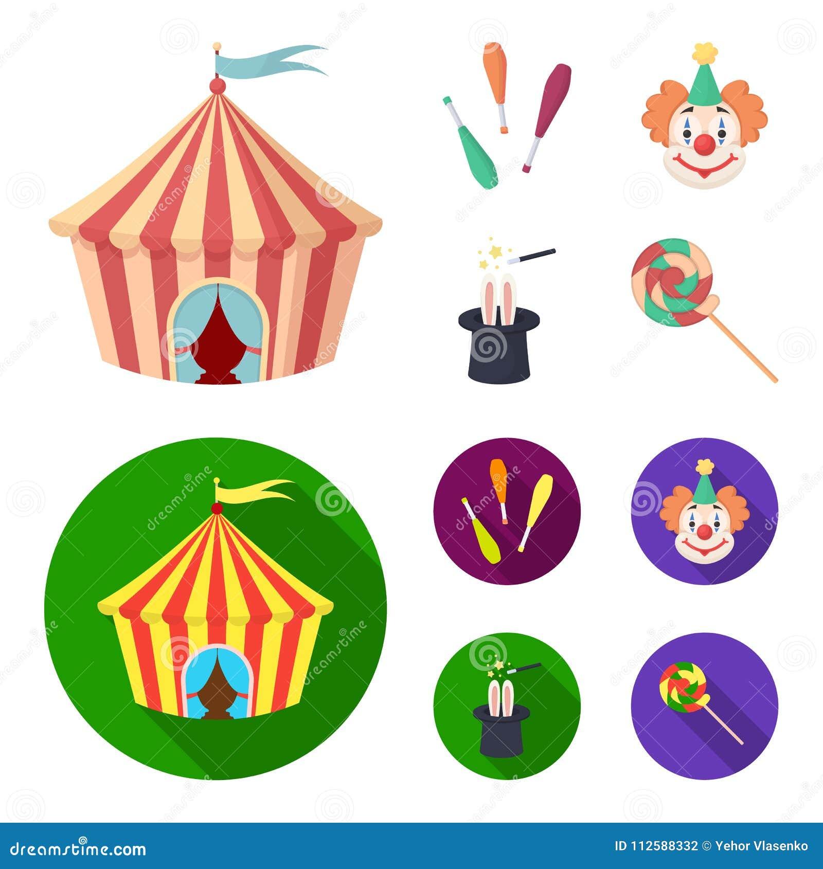 Tenda Do Circus Macis Do Juggler Palhaco Chapeu Do Magico