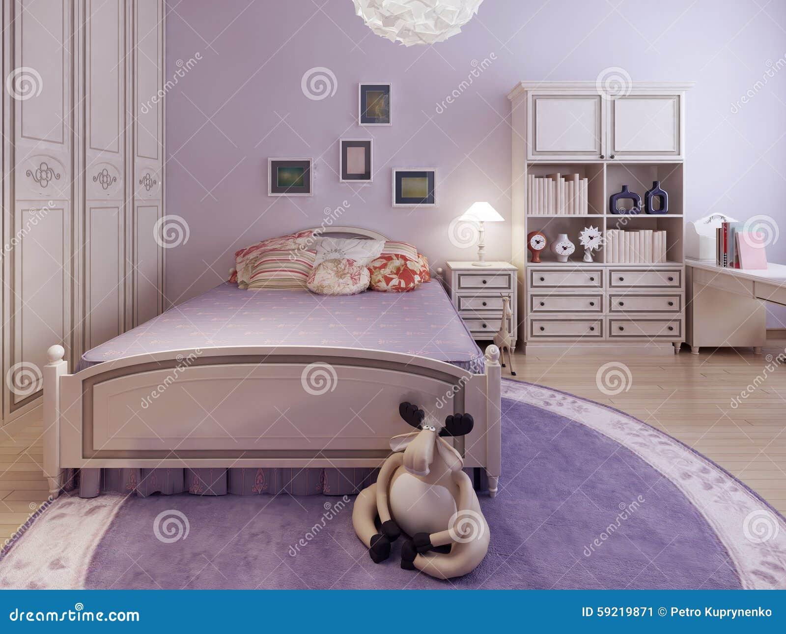 Tendance De Chambre à Coucher Spacieuse D\'adolescents Image ...