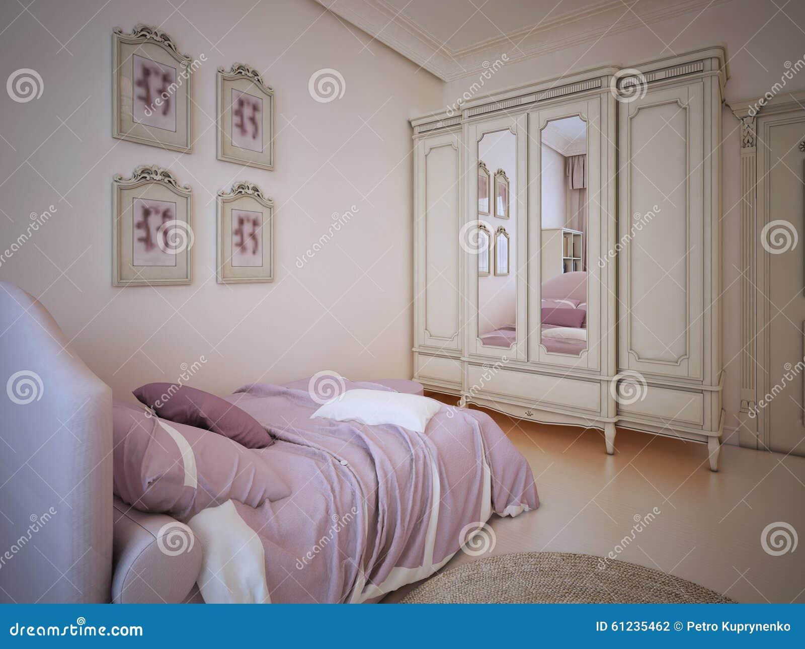 Tendance De Luxe De Chambre à Coucher D\'enfant Illustration ...