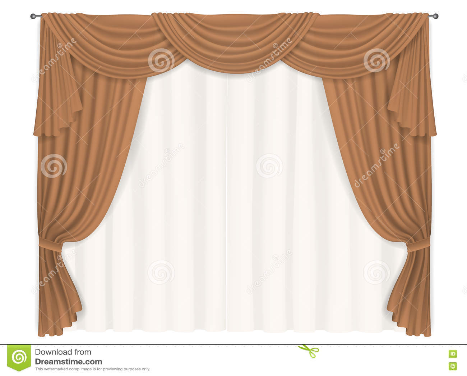 tende beige pesanti illustrazione vettoriale immagine