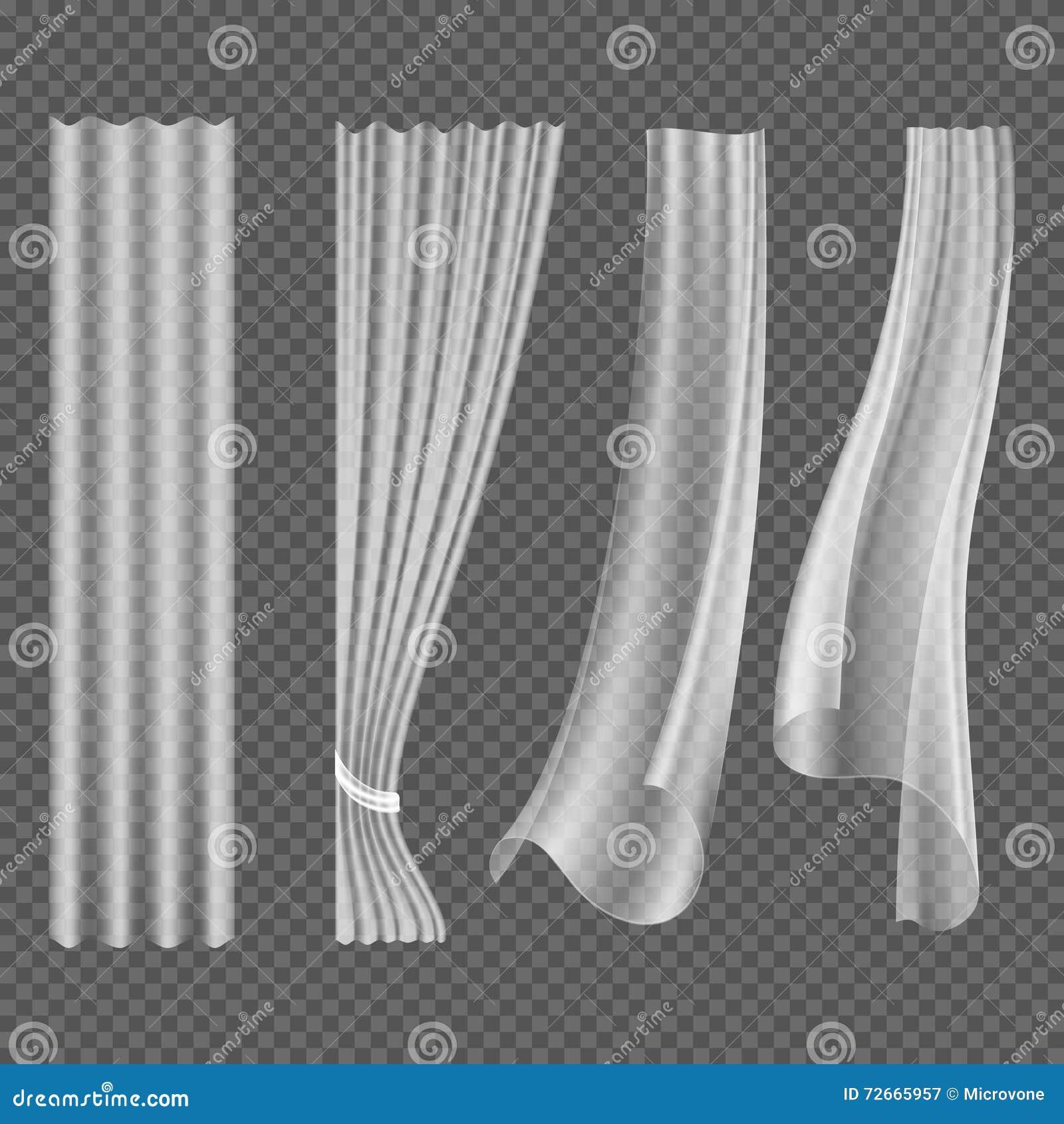 Tende d 39 ondeggiamento bianche trasparenti insieme d for Tende bianche
