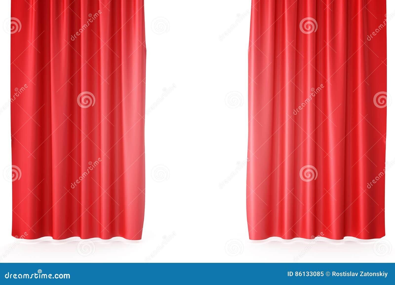 Tende In Velluto Di Seta tende rosse della fase del velluto, color scarlatto dei