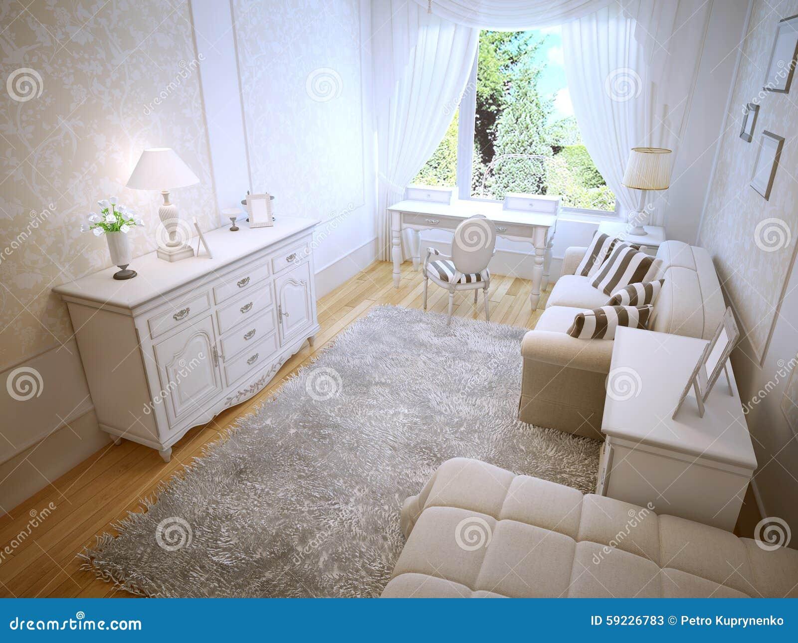 Download Tendencia Brillante Del Dormitorio De Provence Stock de ilustración - Ilustración de brillante, cabecero: 59226783
