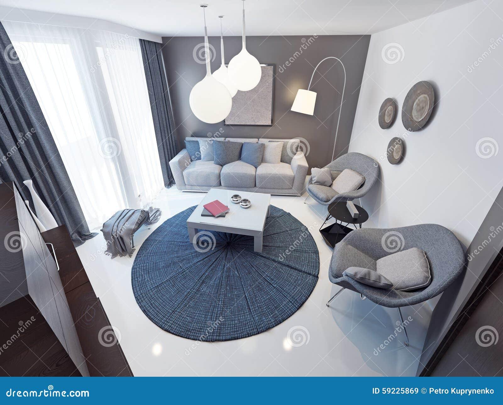 Tendencia minimalista del sitio del salón