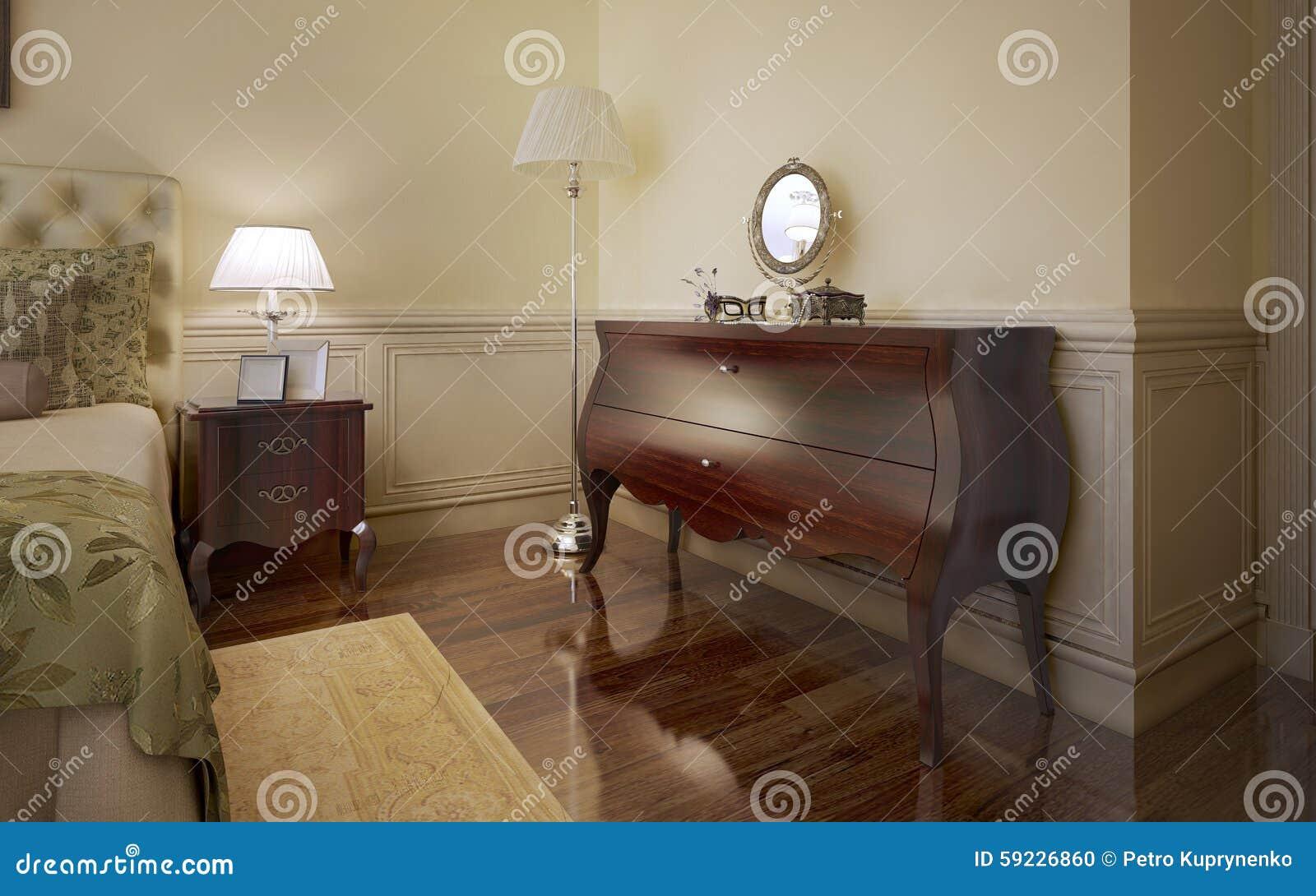 Download Tendencia Moderna Del Dormitorio Stock de ilustración - Ilustración de amortiguadores, interior: 59226860