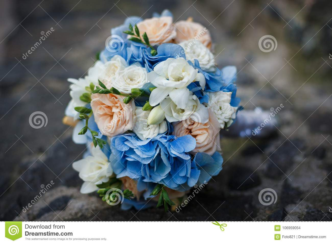 Tender bouquet of flowers stock photo. Image of cold