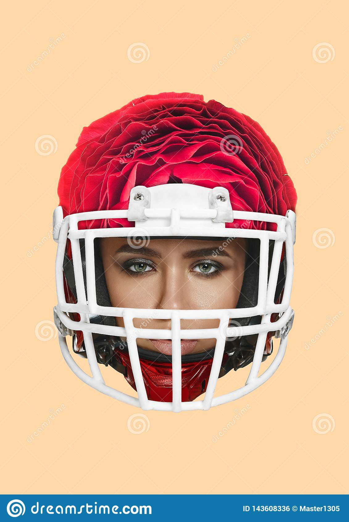 Naked girl with a football helmet on — pic 2