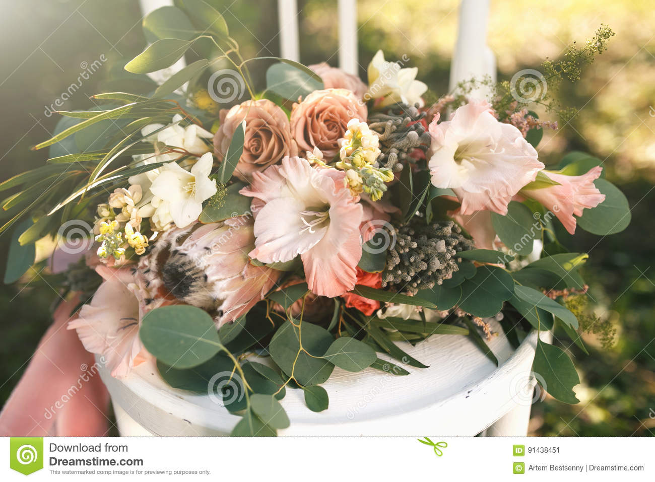 Colorful white and coral flowers illustration wedding and flowers a tender wedding bouquet of pink white and coral flowers and mightylinksfo