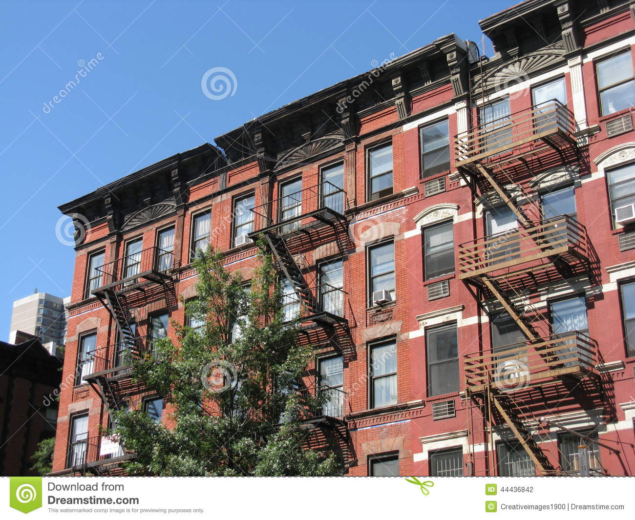 Tenement Style Apartments New York City Stock Photo Image Of East Expensive 44436842