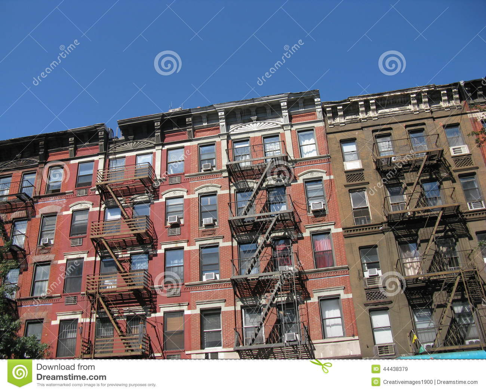 Tenement Style Apartments New York City Stock Photo