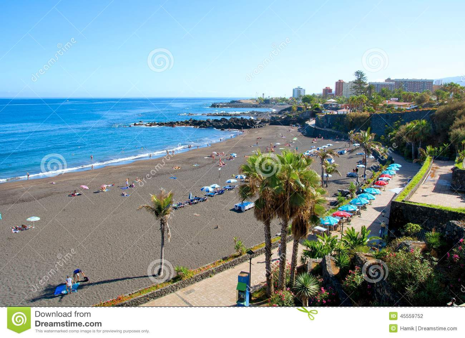 Tenerife beach editorial photography image 45559752 for Aparthotel jardin de playa