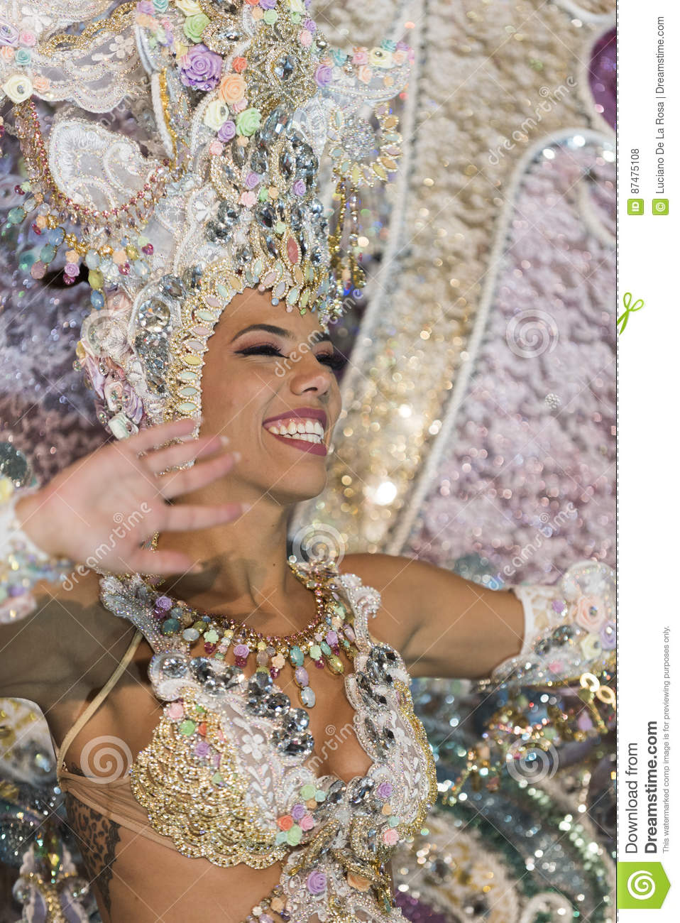 TENERIFE, FEBRUARY 25: Characters and groups in the carnival