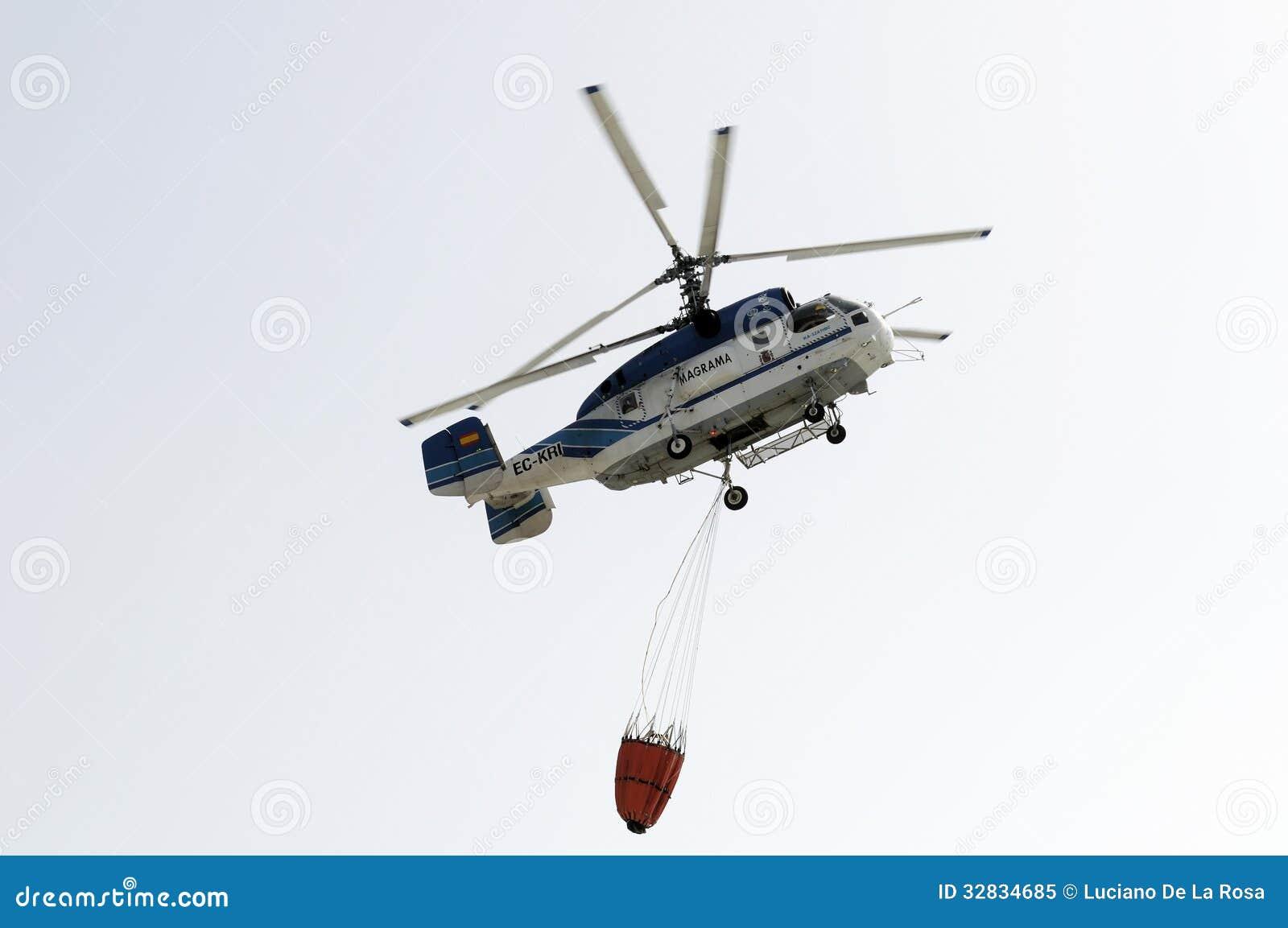 Elicottero Rosa : Tenerife il agosto elicottero di estinzione