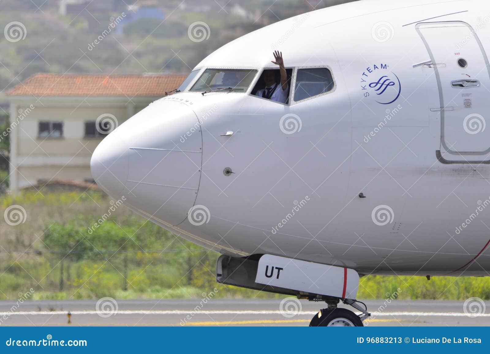 TENERIFE JULY 27: Plane Landing, July 27, 2017, Tenerife