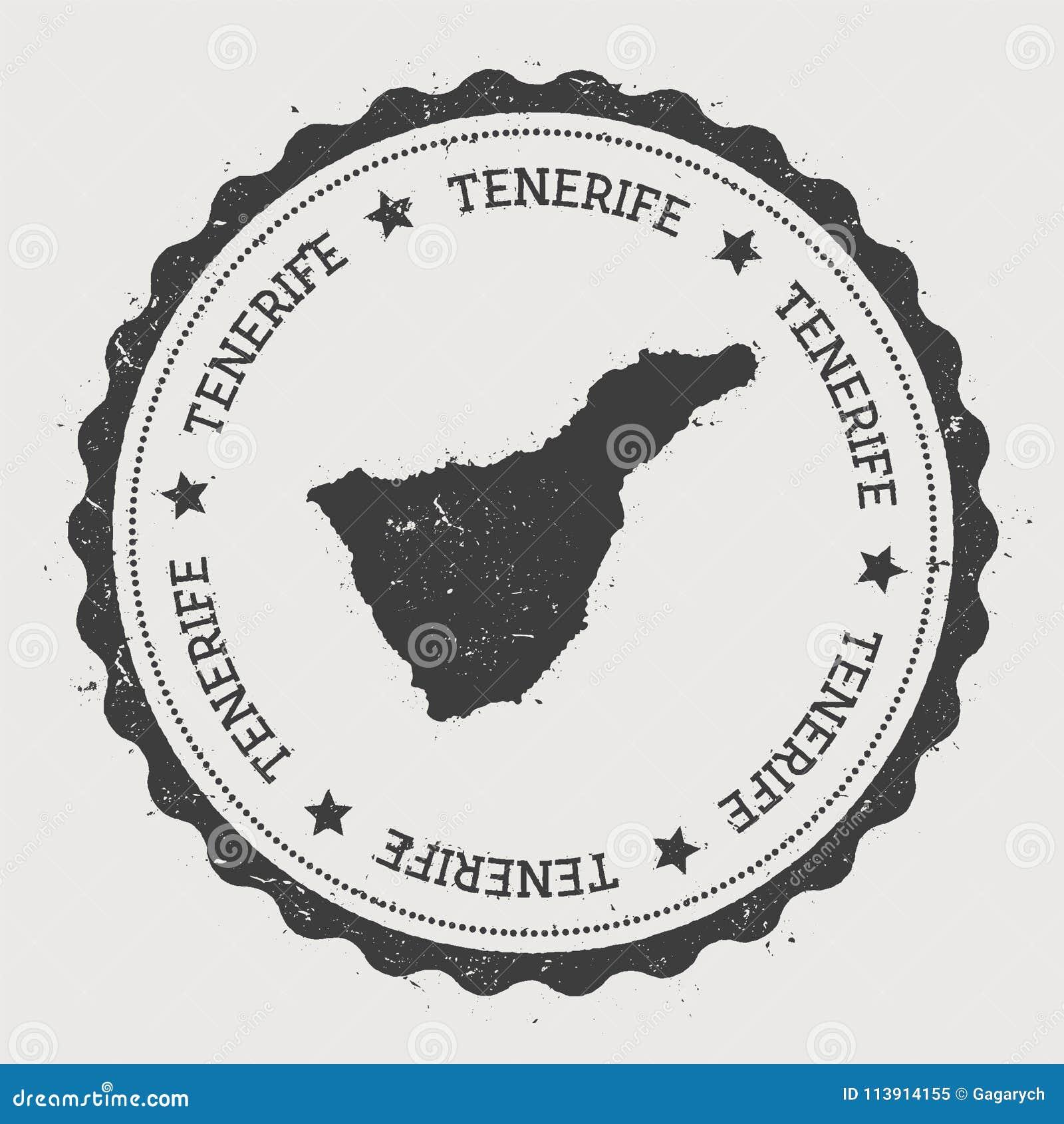 Tenerife sticker  stock vector  Illustration of southern
