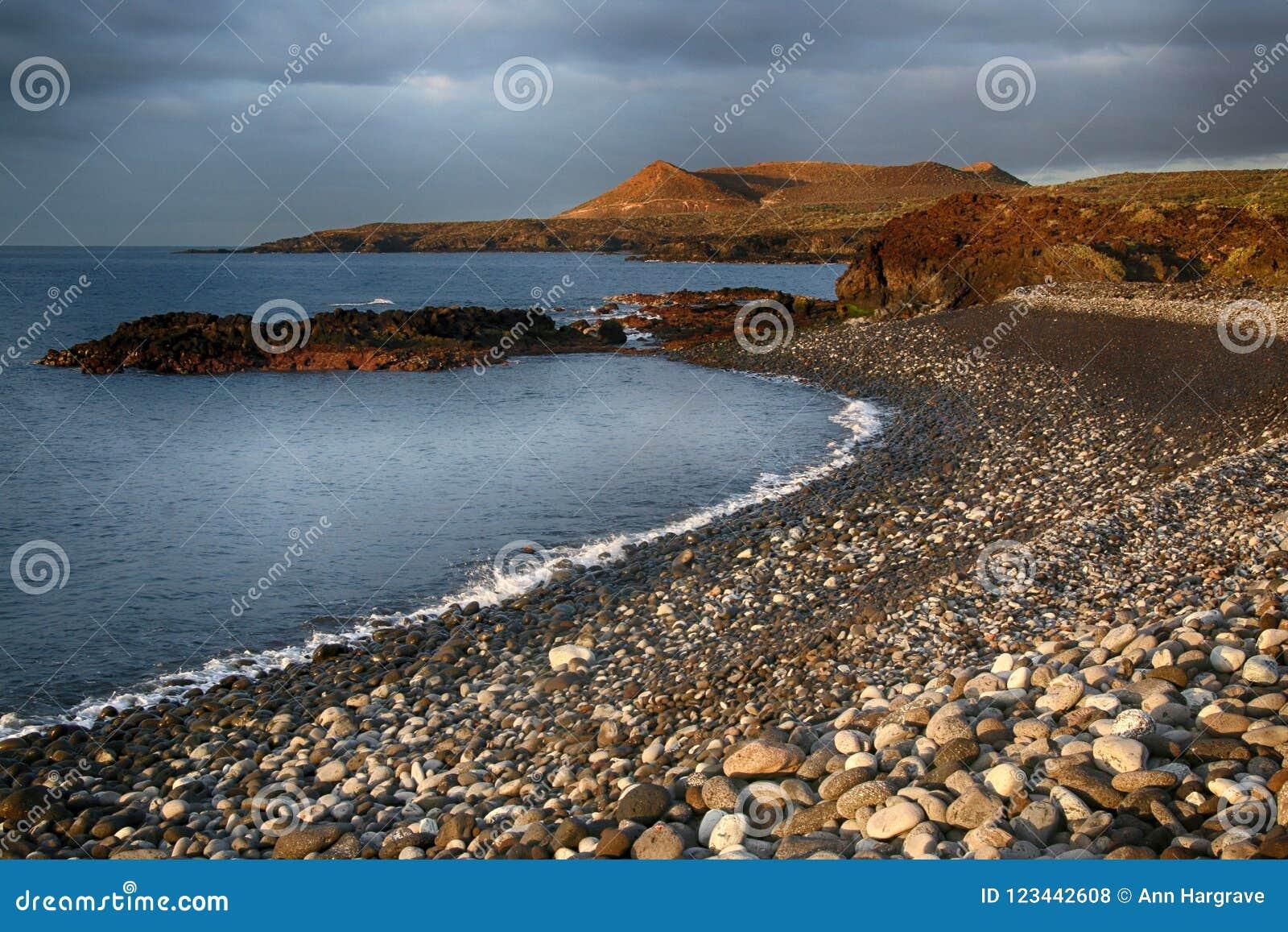 Teneriffa, Szene um Playa Colmenares, Kakteen und Landschaft
