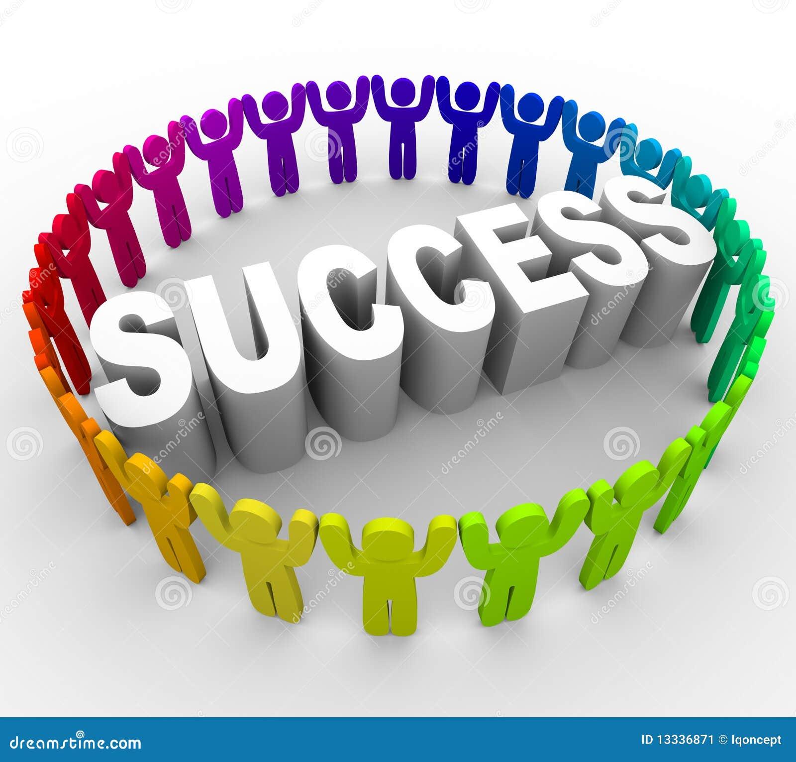 Tenga éxito - la palabra circundante de la gente